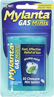 Mylanta Gas Mini Chewable Tabs, Arctic Mint, 50 Mini Tablets Per Bottle (5 Pack)