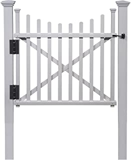 Best Zippity Outdoor Products ZP19019 Manchester Vinyl Gate, White Review