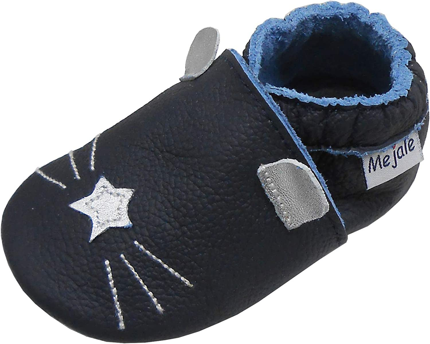 Mejale Baby Leather Shoes Infant Crawling Toddler Moccasins Brown White Purple Navy Cute Boy Girl Slippers