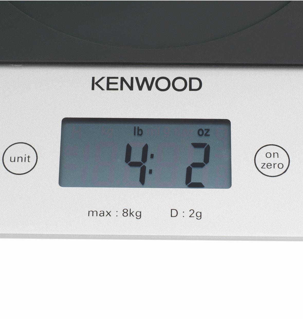 Kenwood AT850B Báscula Electrónica Compatible Con Robots De Cocina Kenwood Chef, Major Y Kmix, 8 Kilos, Vidrio, Gris: Amazon.es: Hogar