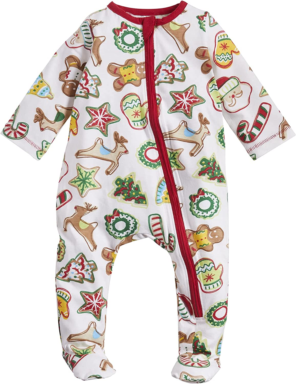Mud Pie Baby Girls' Christmas Cookie Sleeper Ranking TOP3 In stock