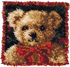 MCG Textiles Girl Bear Latch Hook Pillow Kit