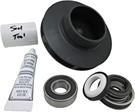 Spa Hot Tub Pump 4.0HP Impeller, Bearing & Seal Kit fits Guangdong LX400 or LP400 56FR WUA Video How to