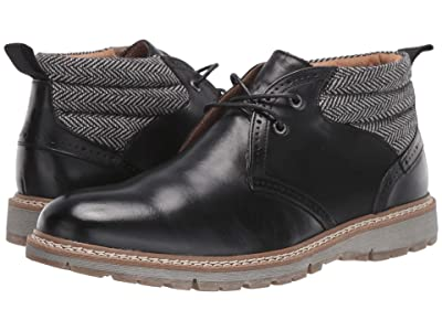 Stacy Adams Grantley Plain Toe Chukka Boot (Black) Men