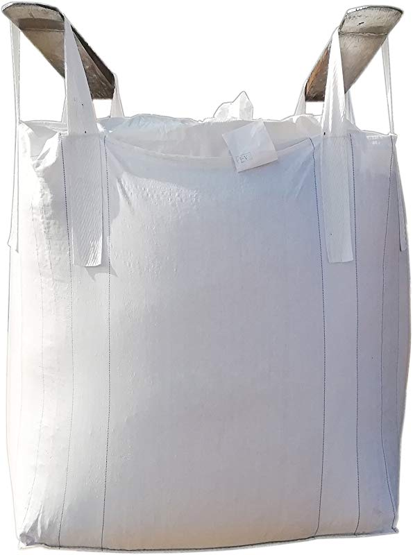 Jumbulk Duffle Top Spout Bottom FIBC Bulk Bag 1 One Ton Bag 35 L X 35 W X 43 H 225 Gallons 2200lbs SWL Woven Polypropylene Bags 1