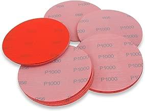 5 Inch 1000 Grit Hook and Loop Wet / Dry Auto Body Film Sanding Discs , 50 Pack