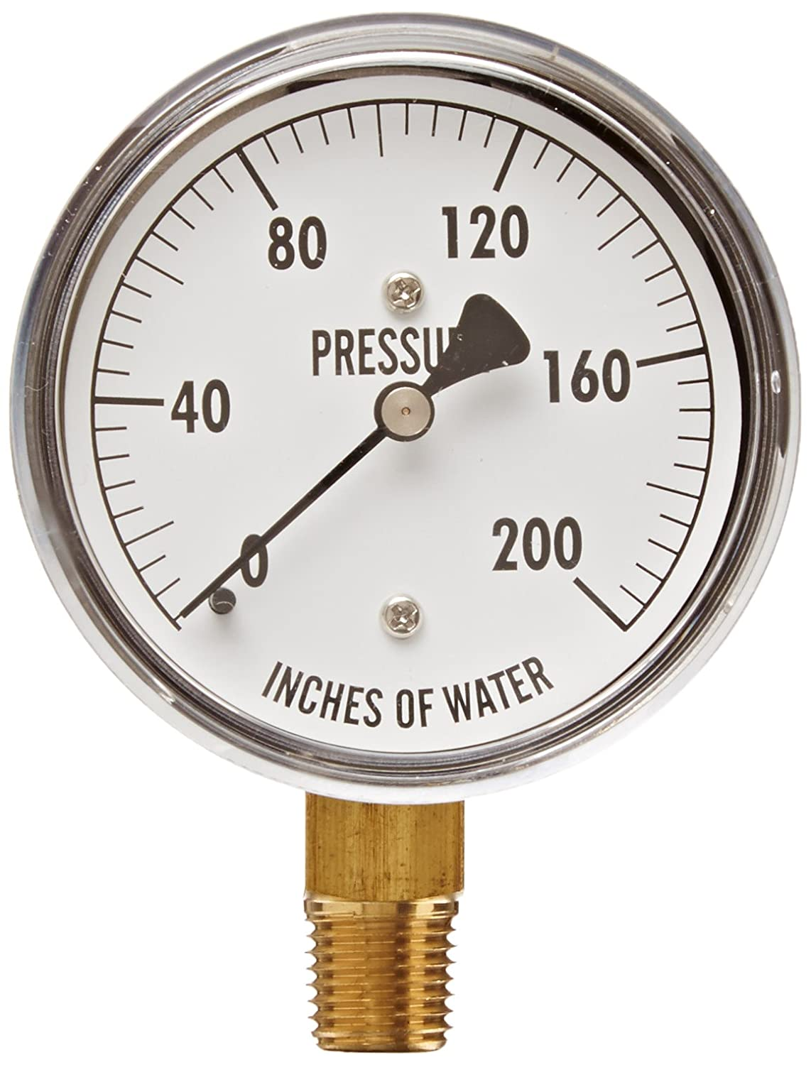 PIC Gauge LP1-SS-402-20X35  4 Dial 20oz//35 wc psi Range Brass Internals Bottom Mount Dry Non-Fillable Low Pressure Gauge with a Stainless Steel Case 1//2 Male NPT Connection Size and Plastic Lens 20oz//35 wc psi Range 1//2 Male NPT Connection Size
