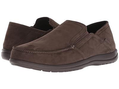 Crocs Santa Cruz Convertible Leather Slip-On (Espresso/Espresso) Men