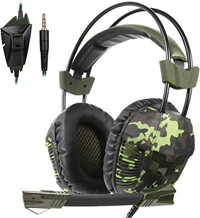 $23 Get SA921Plus 3.5mm Wired Over Ear Stereo Gaming Headset Headband Headphones with Mic 50mm HiFi Speakers Noise Reduction for PC/ MAC/ PS4/ PSP/ Playstation Vita/ 3DS/ Switch/ Mobile Phones/ Tablets