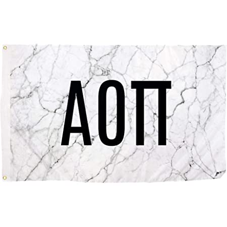 Alpha Omicron Pi Letter Sorority Flag Banner 3 feet x 5 feet Sign Decor AOII Flag - Marble Box