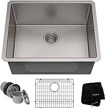 KRAUS Standart PRO 23-inch 16 Gauge Undermount Single Bowl Stainless Steel Kitchen Sink, KHU101-23 (Renewed)