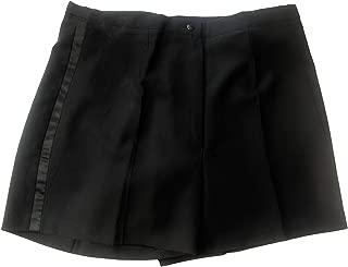 Women's Black Tuxedo Shorts with Satin Side Stripes