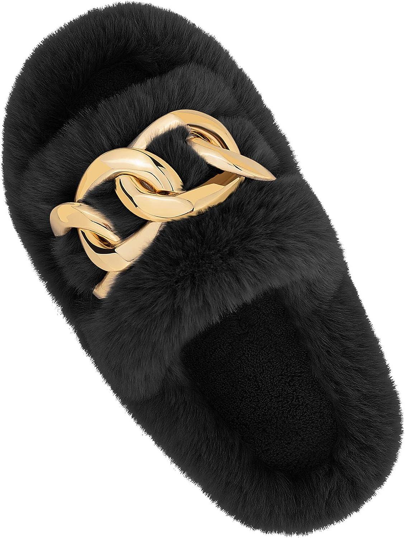 Rheane womens Fuzzy Slippers