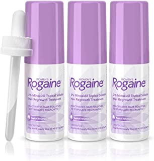 Women's Rogaine 2% Minoxidil Topical Solution for Hair Thinning and Loss, Topical Treatment for Women's Hair Regrowth, 3-M...