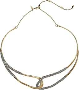 Crystal Encrusted Freeform Collar Necklace