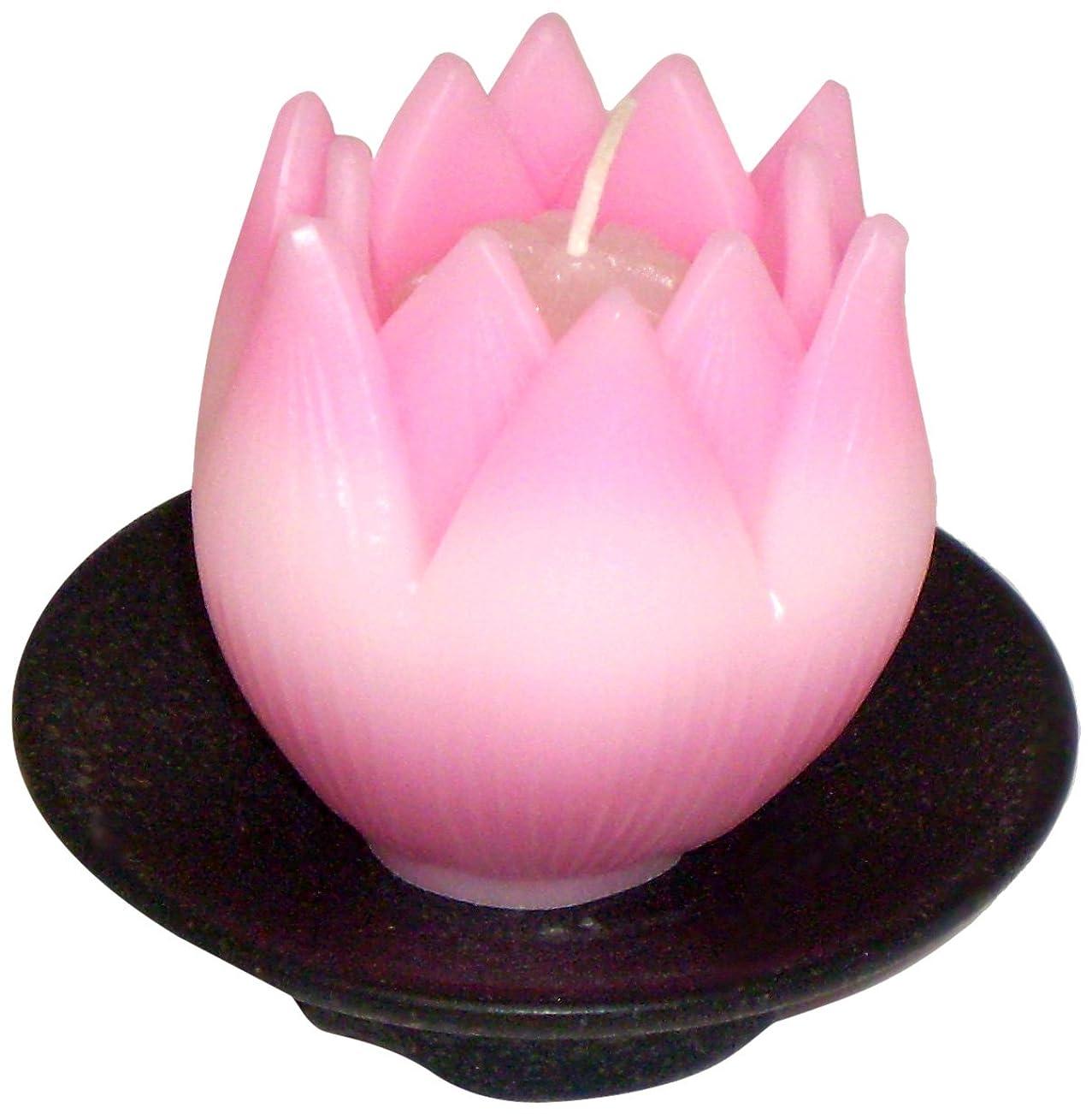 呼吸する踊り子エジプト東海製蝋のろうそく リリィ 器付き ピンク