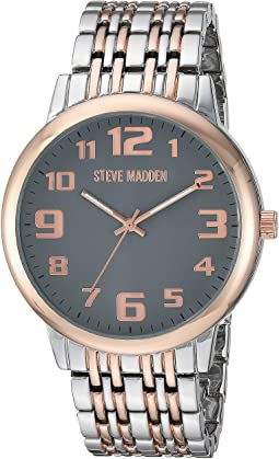 Analog Dial Men Alloy Band Watch SMW197