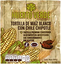 HUERTO VERDE, Tortillas Chipotle, 500 g, 500 gramos