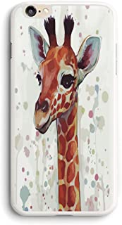 PROEVER Watercolor Giraffe iPhone Case White,PC Hard Case for iPhone (6/6s)