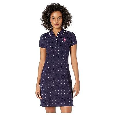 U.S. POLO ASSN. Dot Polo Dress (Evening Blue) Women