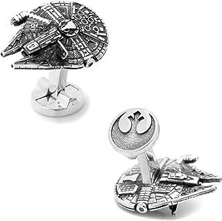 Star Wars 3D Millennium Falcon Cufflinks, Officially Licensed