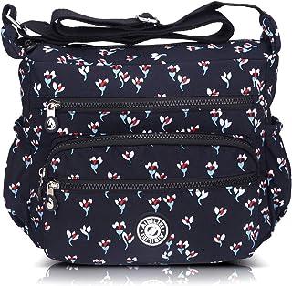 Bolso bandolera para mujer con forro de esponja, bolso de viaje, color Negro, talla Large