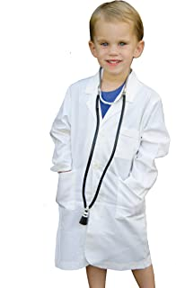 Doctor's Jr. Kids Lab Coat - with Toy Stethoscope (8/10) Off White