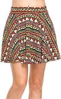Skater Skirt for Women Short Stretch Flared Skirts Elastic Waistband