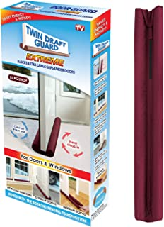 Twin Draft Guard Extreme in Burgundy - Energy Saving Under Door Draft Stopper