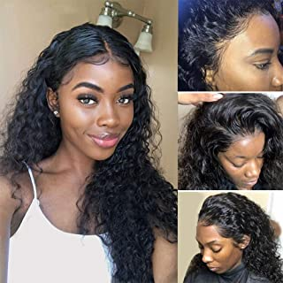 ISEE Hair Water Wave Lace Front Wigs Unprocessed Brazilian Virgin Human Hair Wig Pre Plucked Natural with Baby Hair Wig for Black Women 150% Density (18 inch 13X4 Lace Front Wig)