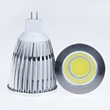 LemonBest Super Bright 12W Mr16 Cob Led Downlight Cool 6500K Flood Lamp 60 Degree Beam Angle Led Bulb Light