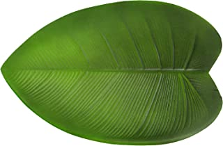 Set de table en feuilles de bananier artificielles - Isolation thermique - Antidérapant - Imperméable - Pour la maison, la...