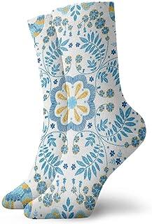 Calcetines casuales divertidos bordado estampado de flores calcetines deportivos deportivos impresos 30 cm de largo