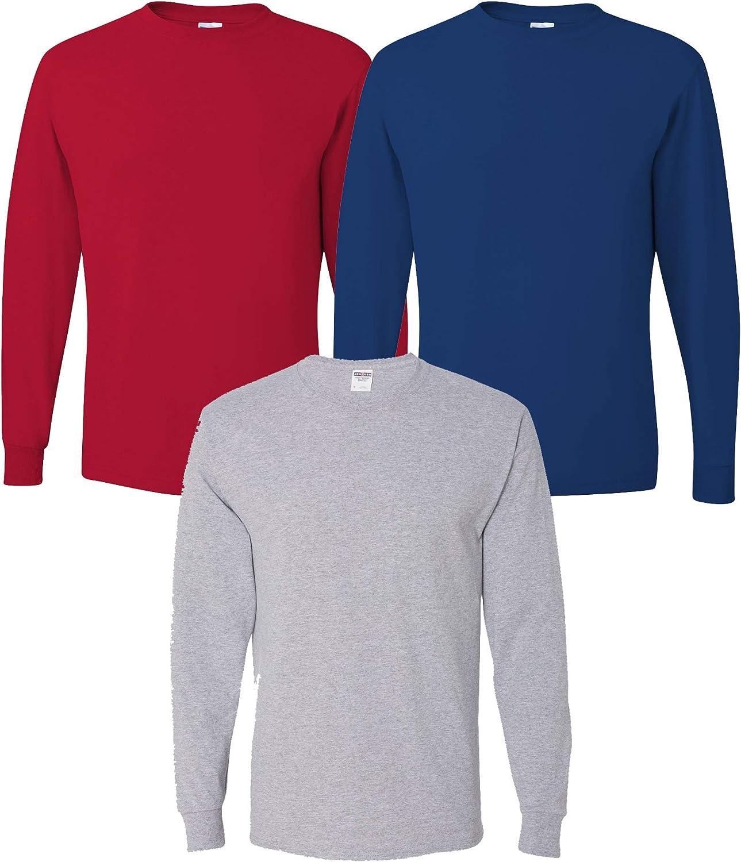 Multipack Jerzees Bundle Dri Power Men Bulk Long Sleeve T-Shirt 3, 6, 10 Pack - Make Your Own Assorted Color Set