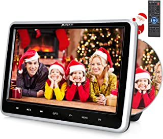 PUMPKIN 10.1 Inch Headrest Car DVD Player with Suction Drive, Support Region Free, Sync Screen, AUX, AV in Out, Last Memory, USB SD,