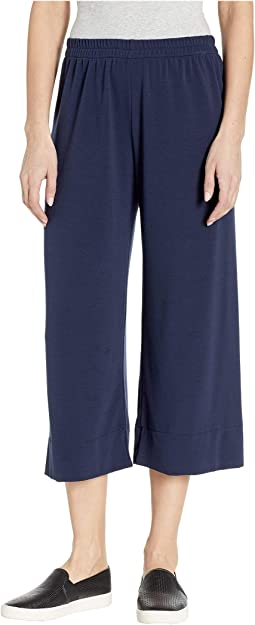 French Terry Pull-On Crop Pants