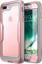 i-Blason Magma Series Case for iPhone 8 Plus 2017/iPhone 7 Plus, Heavy Duty Protection Full Body Bumper Case with Built-in Screen Protector, Includes Removable Beltclip Holster (RoseGold)