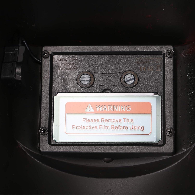 MorNon Casque De Soudage Solaire Tourne Automatiquement Masque De Soudage /Électrique Visi/ère Professionnelle Solaire pour Soudeur De Meulage De Soudage /À larc Argent