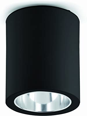FARO BARCELONA Pot 63125–Plafonnier, 60W, Aluminium, Couleur Noir