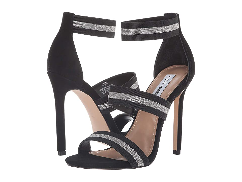 Steve Madden Carina Dress Sandal (Black/Silver) Women