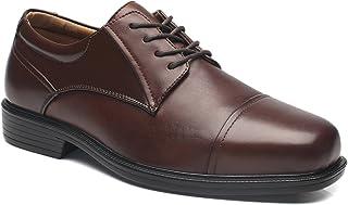 La Milano Men's Shoes a1720w Leather Slip On Dress Oxfords brown Size: 9 X-Wide