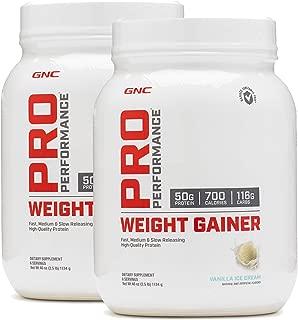 GNC Pro Performance Weight Gainer - Vanilla Ice Cream - Twin Pack