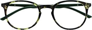 Opulize Met Leesbril Groot Ronde Zwart Bruin Purper Groen Grijs Doorzichtig Mannen Vrouwen Scharnieren Met Veer R60