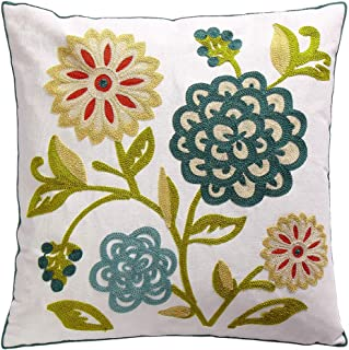 embroidered couch pillows