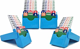 Jranter Set of 4 Bridge Bidding Boxes- Set of Four Bridge Bidding Boxes Premium Bridge Kit Bidding Device, Azure
