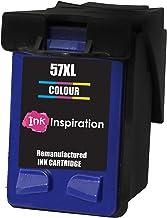 Tricolor INK INSPIRATION® Cartucho de Tinta Remanufacturado para HP 57 Deskjet 450 450CBi 5150 5550 9680 Officejet 4212 4215 5610 6110 Photosmart 7260 7350 7450 7960 PSC 1210 1215 1315 2110