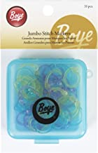 Boye 7582 Jumbo Stitch Markers for Sizes 0 to 15, 35-Pack