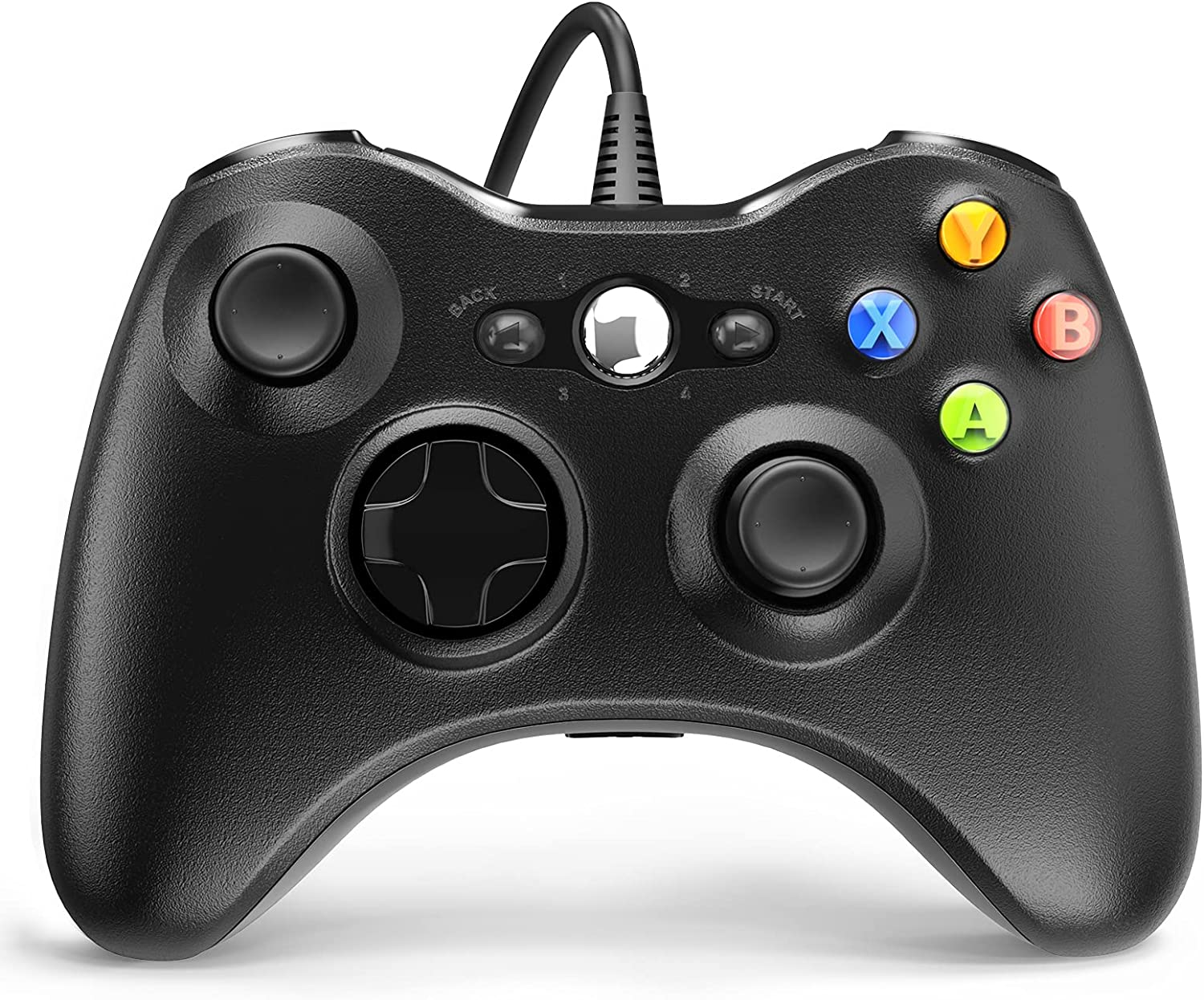 Wired Controller for Xbox 360, YAEYE Game Controller for Xbox 360 with Dual-Vibration Turbo for Microsoft Xbox 360/360 Slim and PC Windows 7,8,10