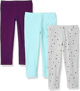 Amazon Essentials – Mallas capri para niña (3 unidades