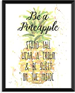 Serif Design Studios Be A Pineapple, Inspirational Quote, Minimalist Poster, Home Decor, College Dorm Room Decorations, Wall Art